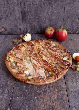 Afbeeldingen van Appel noten vlaai (24 cm)