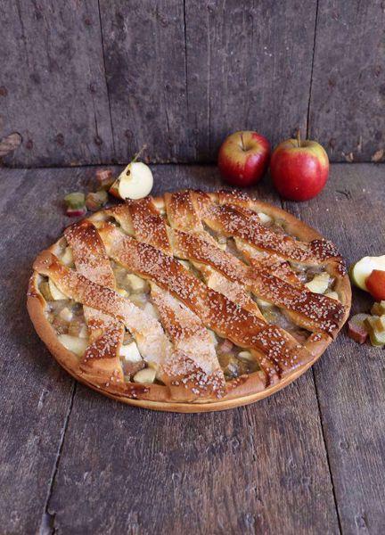 Afbeelding van Appel noten vlaai (24 cm)