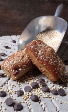 Afbeeldingen van Kersen Quinoa Chocolade Reep