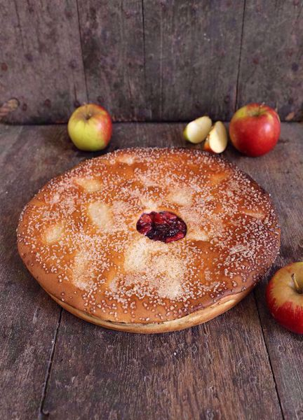 Afbeelding van Vegan (lactose vrije) Appel Kersenvlaai (24 cm)
